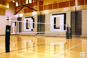 Scholastic One-Court Volleyball System Image