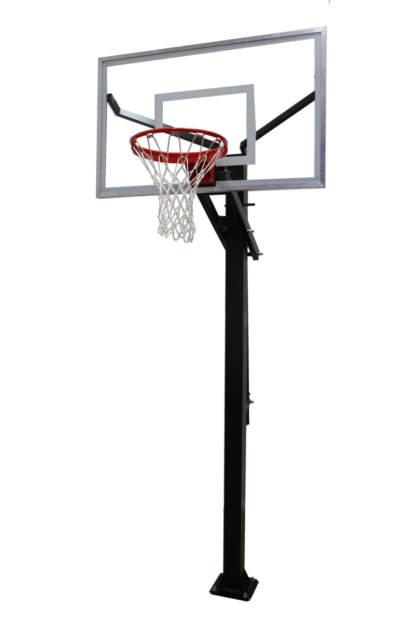 Varsity Jam Adjustable Basketball Hoop with Glass Board Image